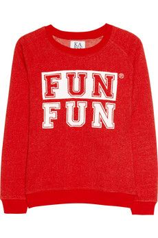 Zoe Karssen Fun Fun Cotton-Blend Terry Sweatshirt