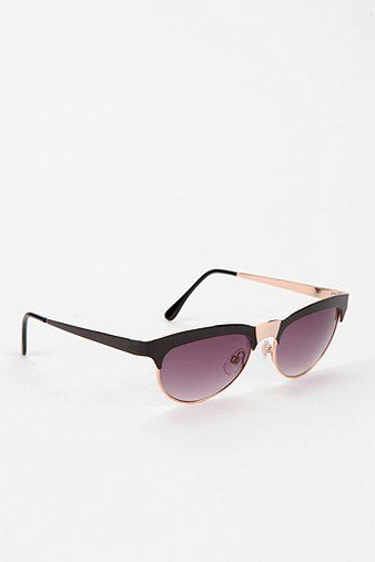 Urban Outfitters Black Cat-Eye Sunglasses