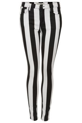 Topshop Moto Stripe Leigh Jeans
