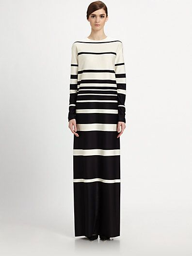 Marc Jacobs  Striped Silk Gown