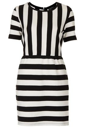 Topshop Texture Stripe Shift Dress