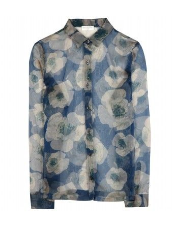 Dries van Noten  Crisbell Silk Print Blouse
