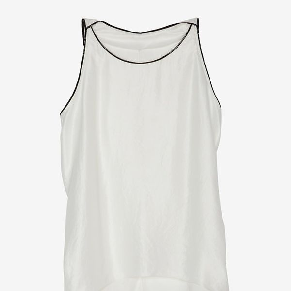 Helmut Lang Exclusive To Intermix Patent Trim Sleeveless Blouse