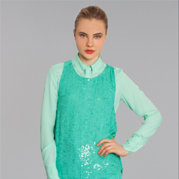 Marissa Webb Skyler Sequin Top