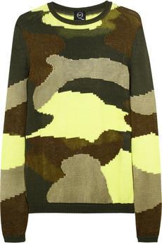 McQ Alexander McQueen  Camouflage Cotton-Blend Sweater