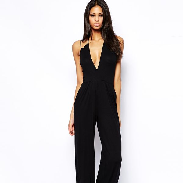 ASOS Jumpsuit with Deep Plunge and Strap Detail
