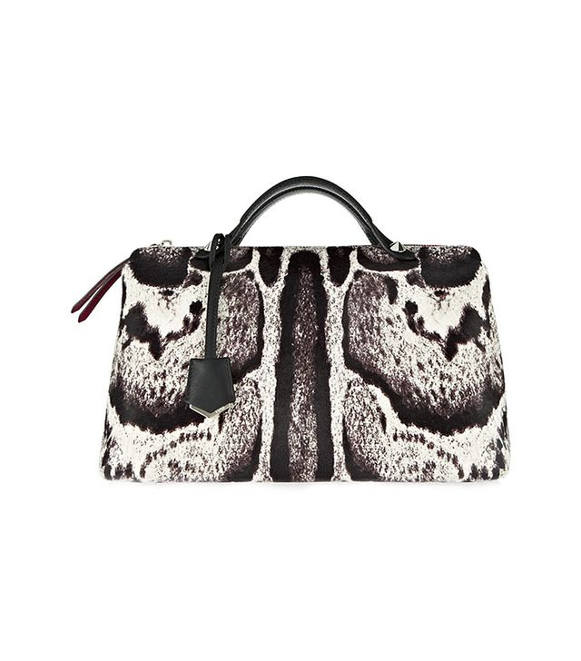 Fendi Bauletto Printed Calf Hair and Leather Tote