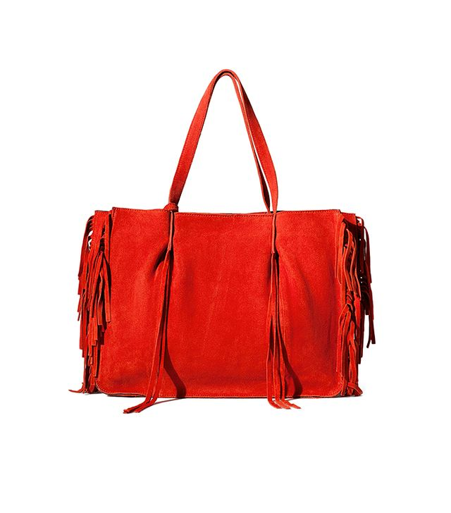 Zara Fringed Leather Shopper