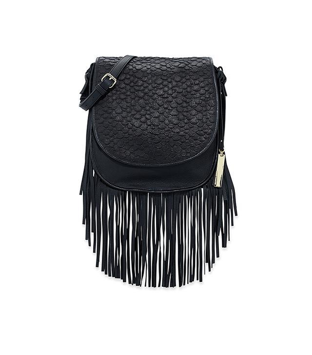VC Signature Andy Snake-Embossed Fringe Shoulder Bag