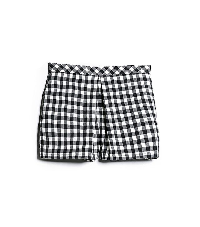 Mango Gingham Check Shorts