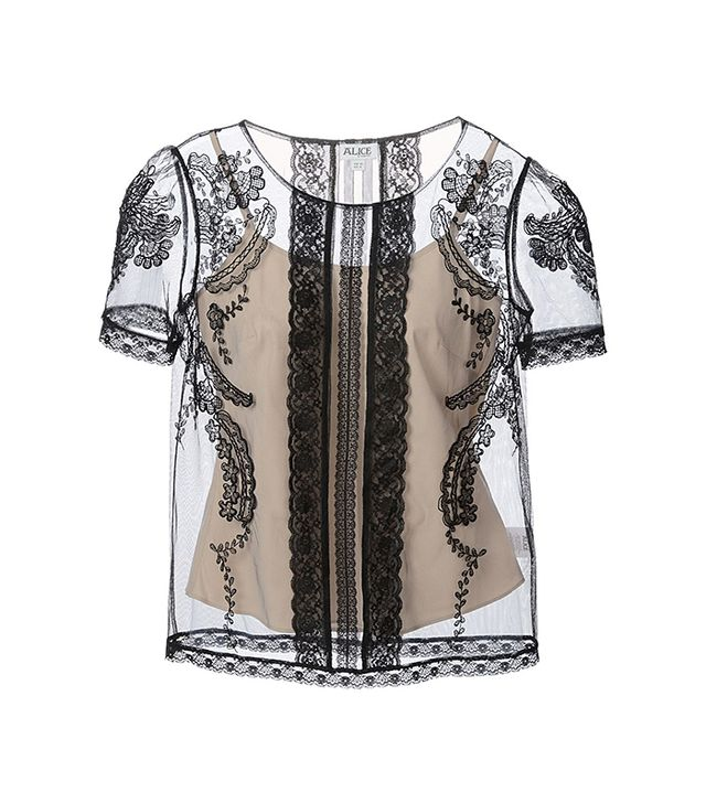 Alice by Temperley Embroidered Sheer Top