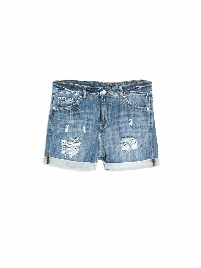 Mango Denim Boyfriend Shorts