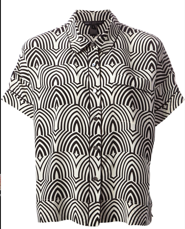 Marc by Marc Jacobs Boxy Patterned Shirt