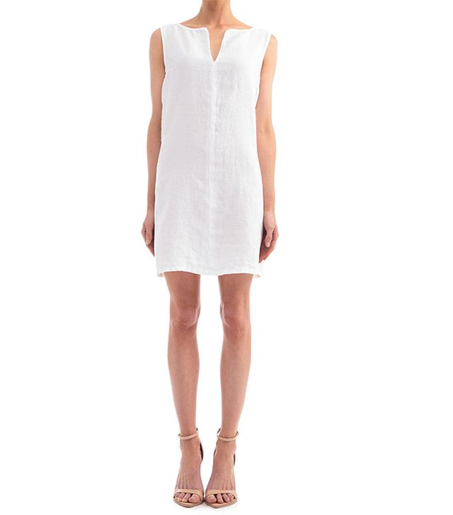 Three Dots Sleeveless Dress With Faux Pockets