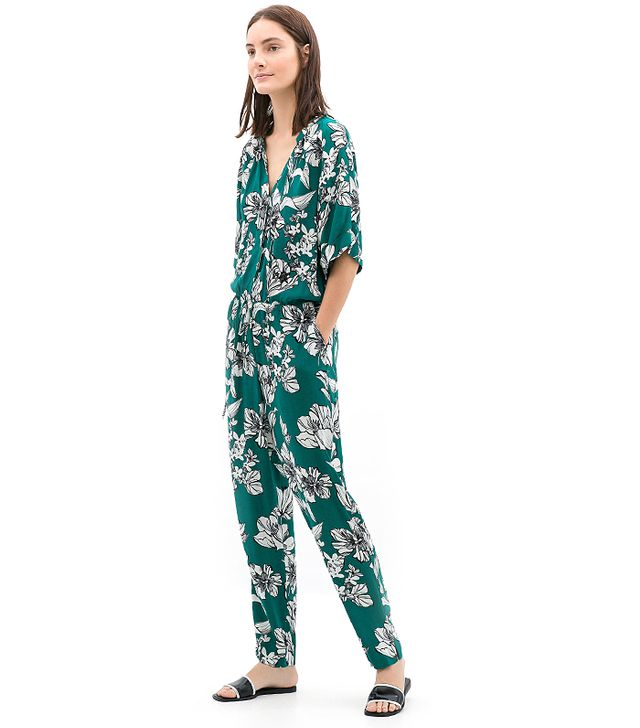 Zara Long Printed Jumpsuit