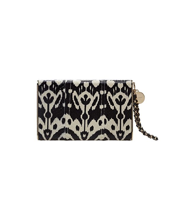 Brian Atwood Metal Frame Snakeskin Clutch