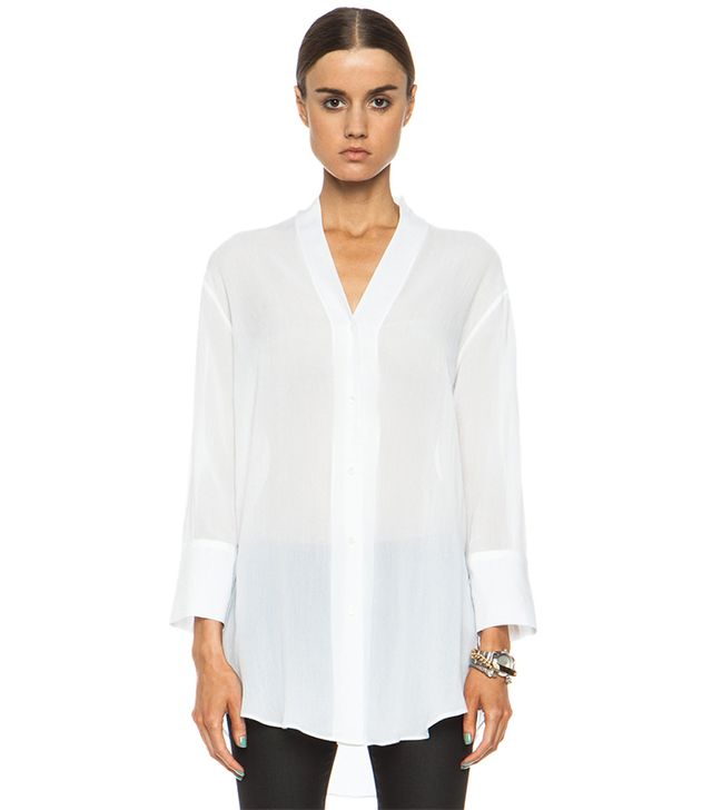 Helmut Lang Mist Oversized Viscose Button Down