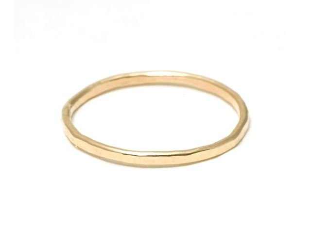 Catbird Classic Hammered Ring
