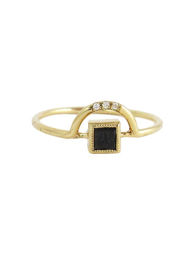 Jennie Kwon Designs Black Diamond Arch Ring