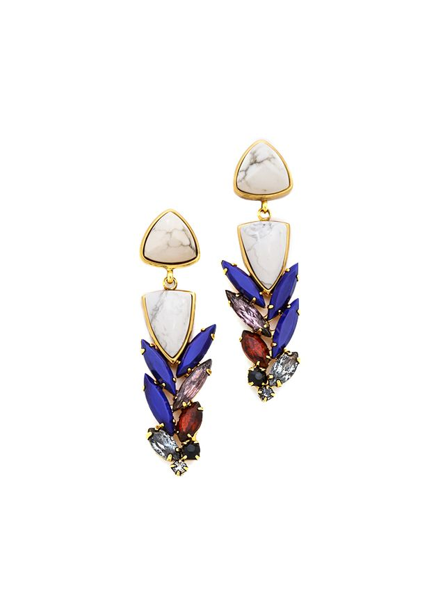 Lizzie Fortunato Jewels Porcelain Cool Earrings