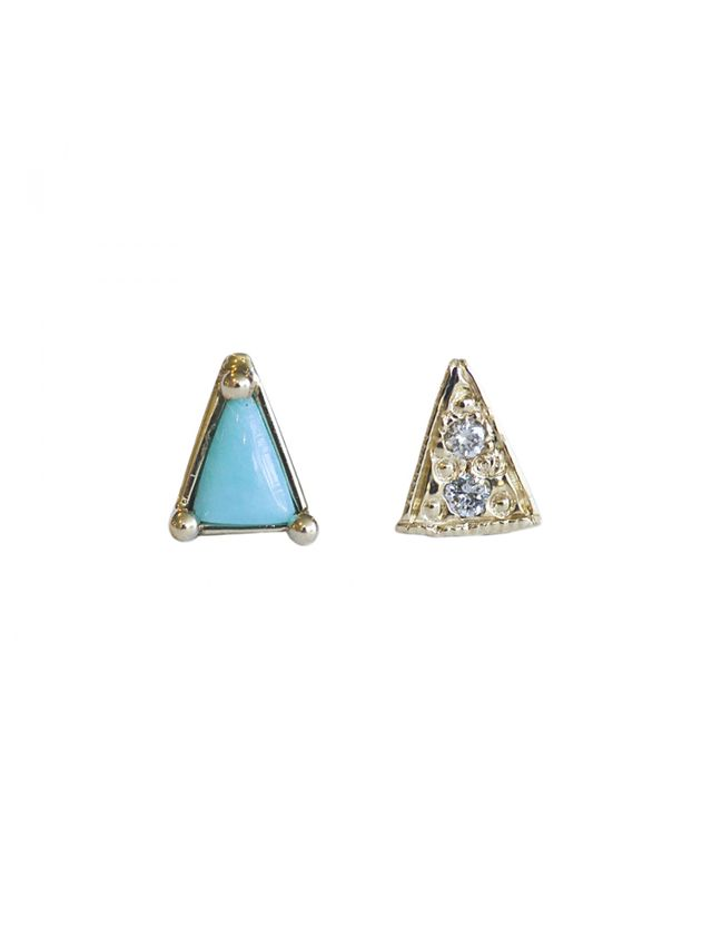 Mocium Mismatched Triangle Studs