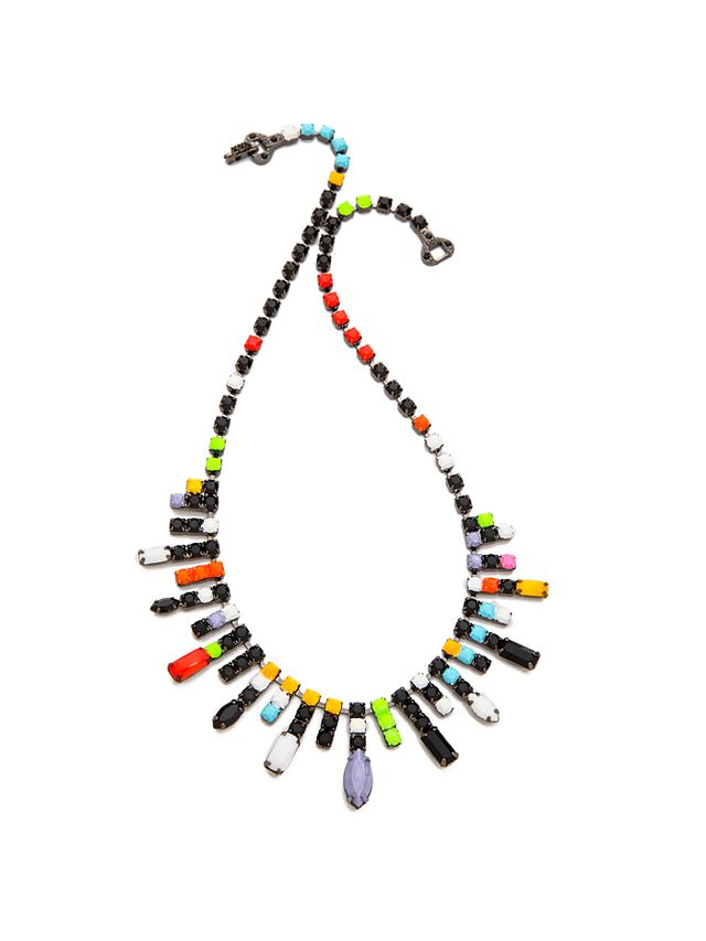 Tom Binns De Stijl Neon Jewel Necklace
