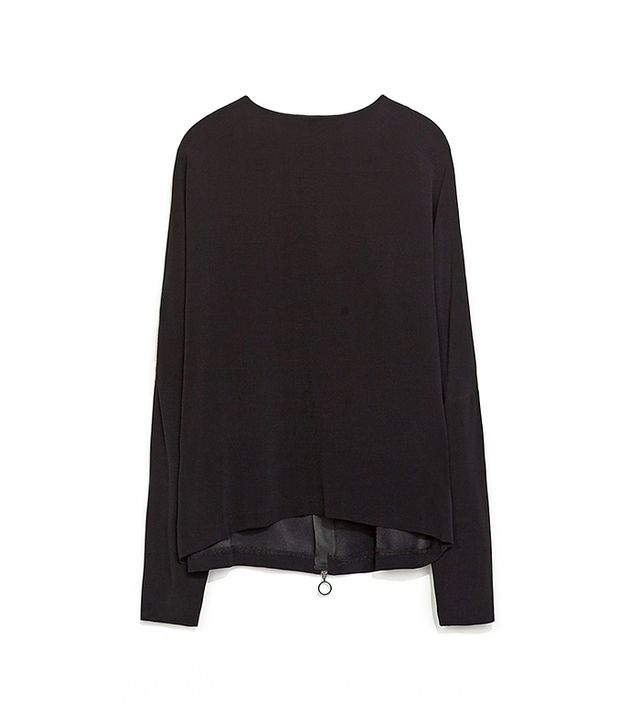 Zara Top With Zip At The Back
