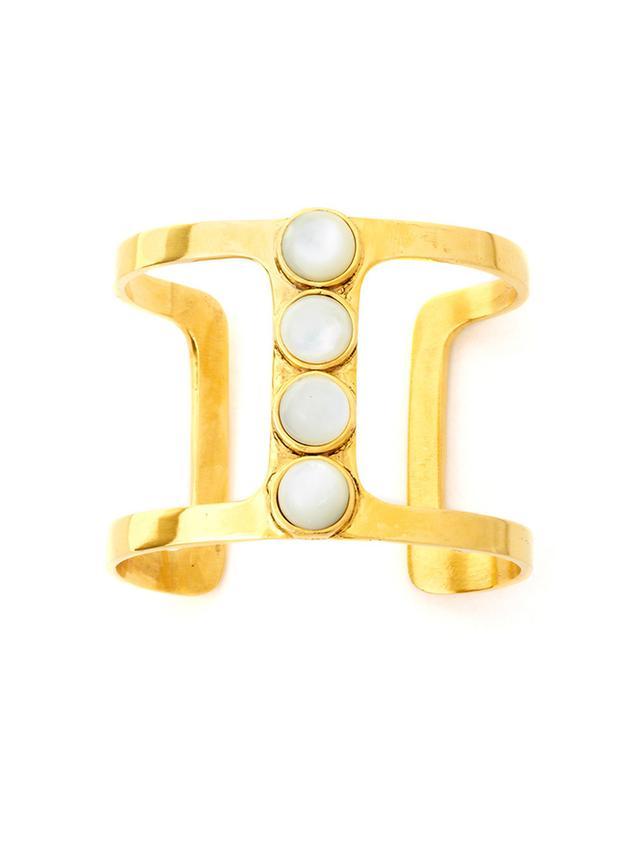 Lizzie Fortunato Pebble T-Bar Bracelet ($