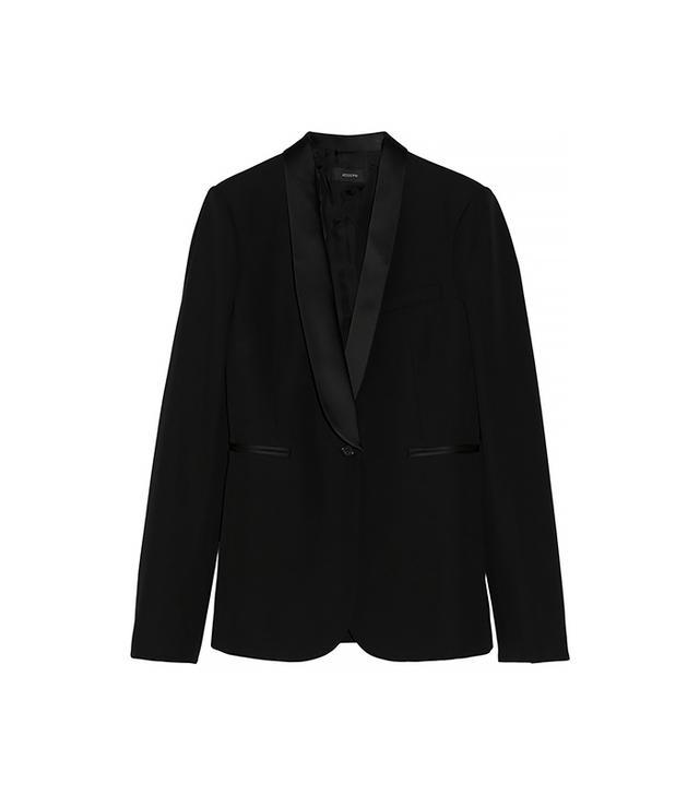 Joseph Helmut Satin-Trimmed Wool Tuxedo Blazer