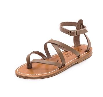 K Jacques St. Tropez Epicure Crisscross Sandals