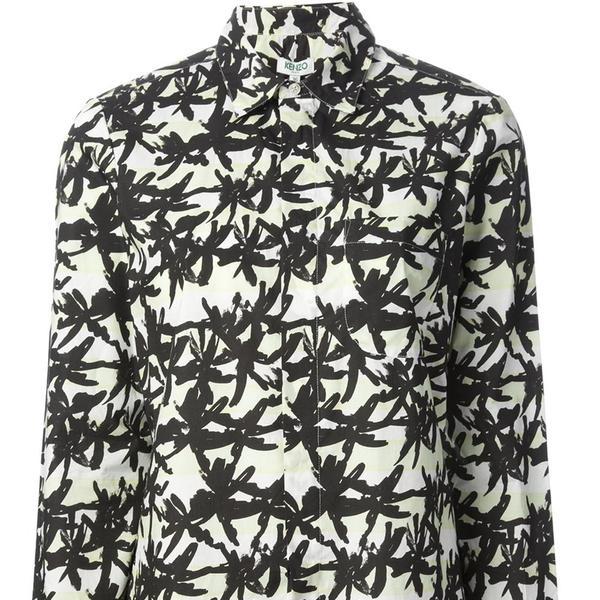 Kenzo Palm Print Shirt