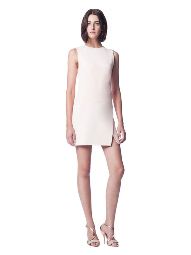 Narciso Rodriguez Blush Sheath Dress With Textured Inset