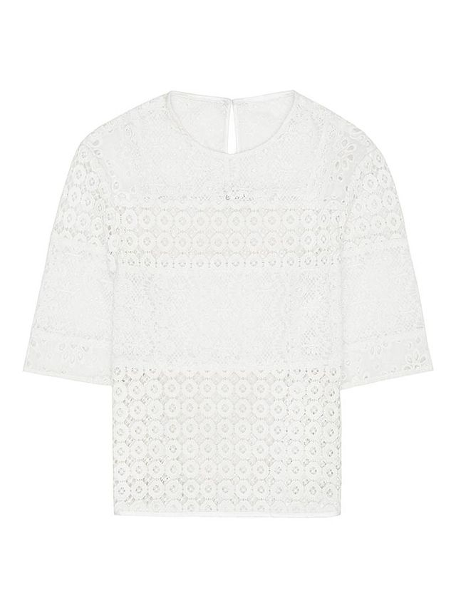 Reiss Isabel Crochet Detail Top
