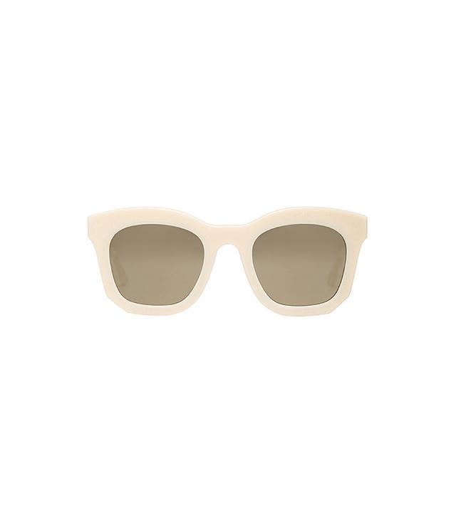 Stella McCartney Mirror Wayfarer Sunglasses in White & Cream