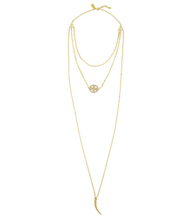Arme De L'Amour Layered Gold-Plated Necklace