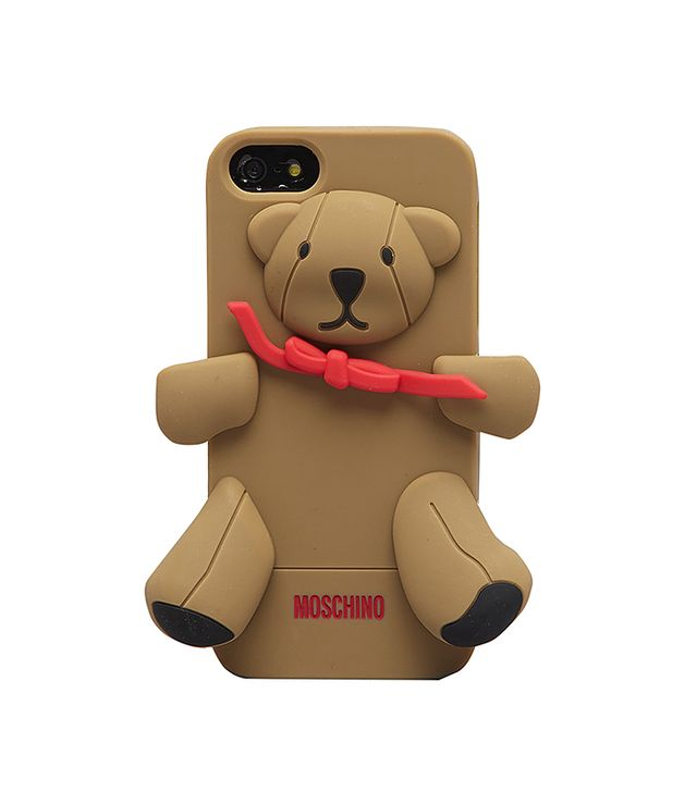 Moschino Bear iPhone Cover in Beige