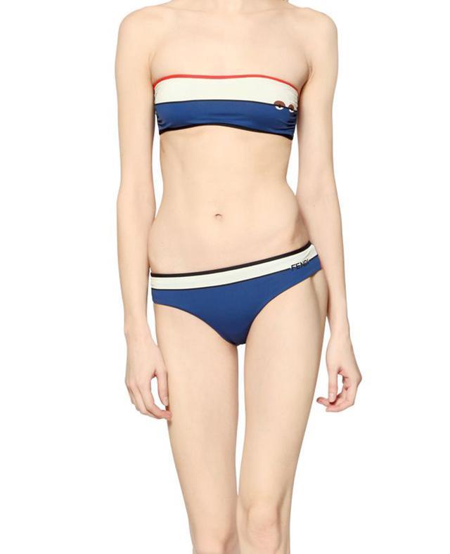 Fendi Color Block Lycra Bandeau Bikini