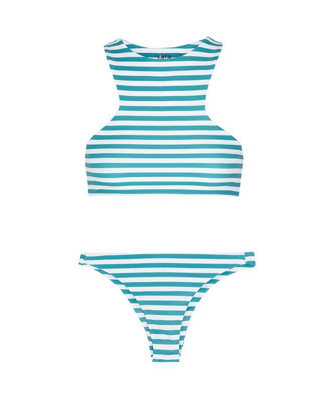 Mikoh Miyako Barbados Striped Bikini Top and Striped Bikini Briefs