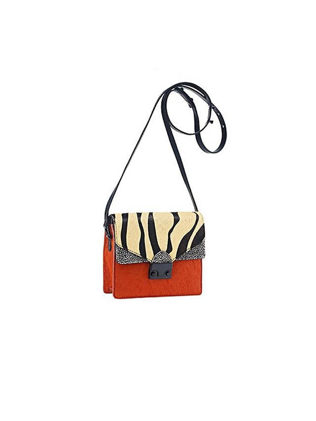 Loeffler Randall Mini Agenda Zebra Bag