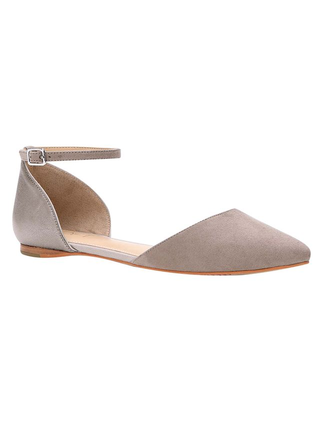 Loft D'Orsay Ankle Strap Flats