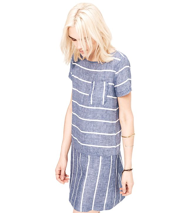 Lou & Grey Striped Chambray Dress