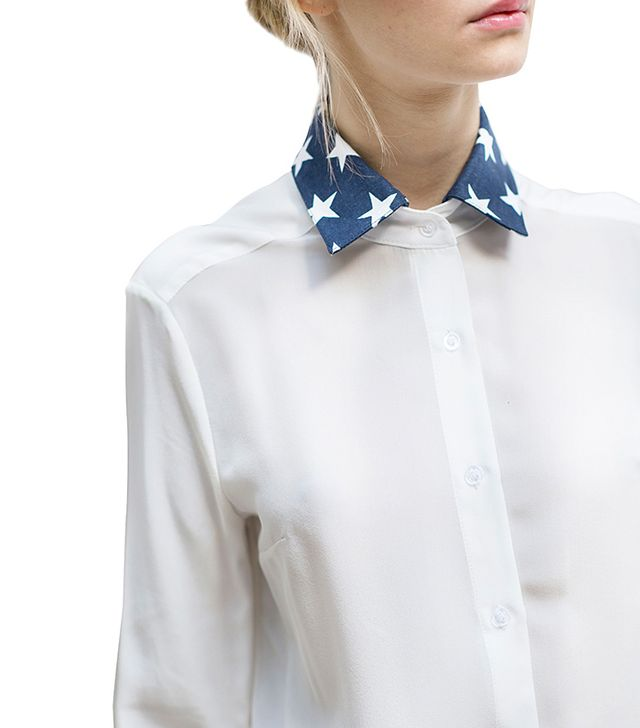 D R E S S H I R T Star Denim Collar