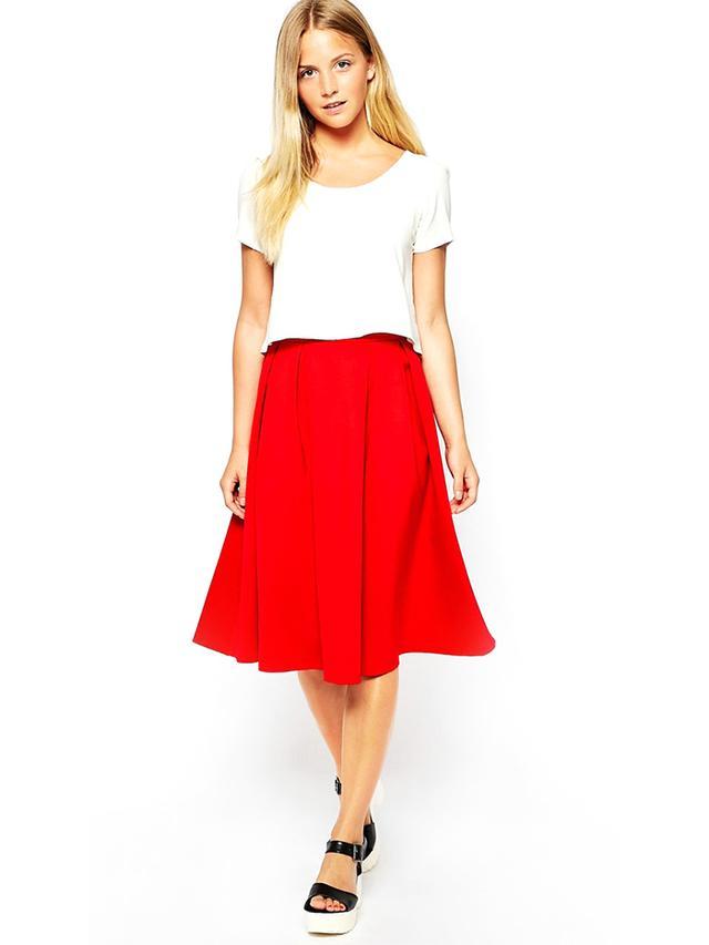 Girls on Film Midi Full Skirt