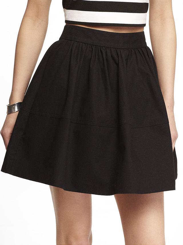 Express High-Waist Cotton Full Skirt