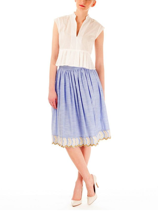 Suno Cinched Full Skirt