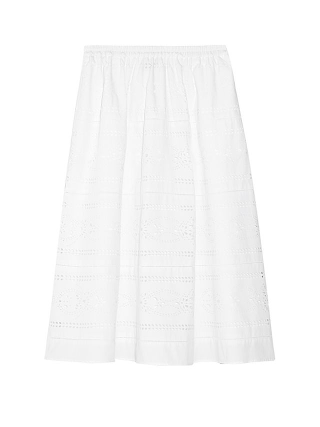 J.Crew Collection Laser-Cut Midi Skirt