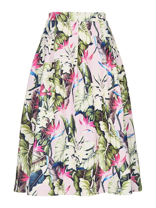 Topshop Scuba Midi Skirt