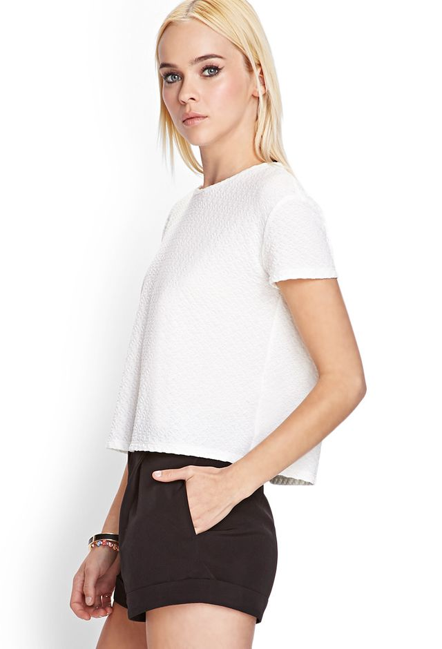 Forever 21 Boxy Textured Knit Top