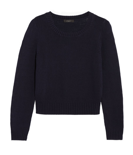 J.Crew Cropped Cotton Sweater