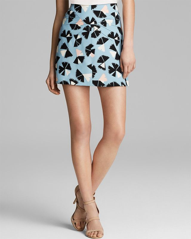 Marc By Marc Jacobs Pinwheel Flower Silk Skirt